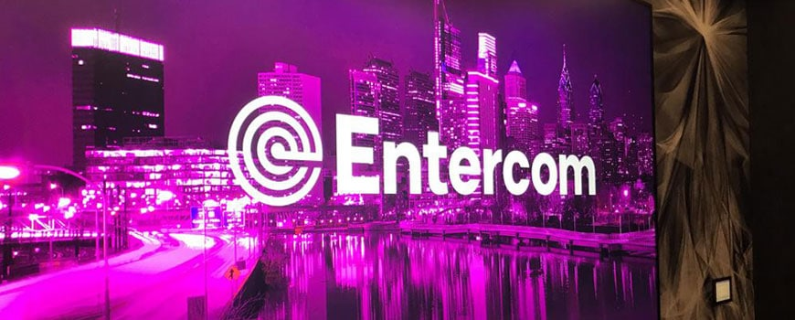 Purple entercom screen image